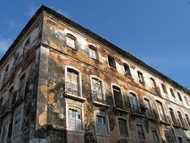 Building in ruins. Old building in the Historical Center of São Luis - Brazil Royalty Free Stock Photography
