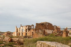 Building ruins in Belchite town, Spain Royalty Free Stock Photo