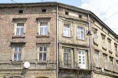 Building in ruins in Krakow royalty free stock photos