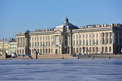 Building of the Russian Academy of Arts in St. Petersburg Stock Photography