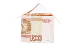 Building of Russian rubles Stock Image