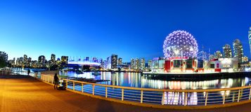 Science World in Vancouver, canada. The building`s former name Science World in Vancouver is a science centre run by a not-for-profit organization in Vancouver royalty free stock photo