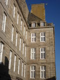 Building in Saint Malo. In winter, 2007 Royalty Free Stock Photo