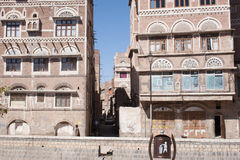 Building in Sanaa, Yemen Stock Photos
