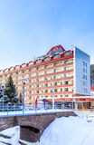 The building of the sanatorium `Siberia`. Resort Belokurikha. Altai Stock Photos