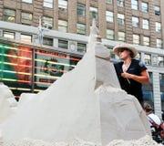 Building sand castle. Stock Photography
