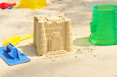 Free Building Sandcastle By The Beach Royalty Free Stock Image - 10522316