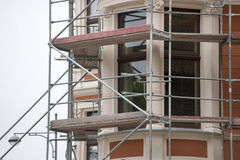 Building with scaffolding undergoing repair Royalty Free Stock Image