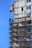 Building in scaffolds Stock Photo