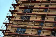 Building with scaffolds Royalty Free Stock Image