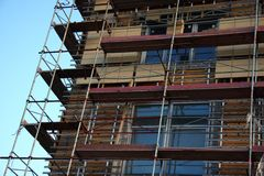 Building with scaffolds Royalty Free Stock Photos