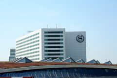 Building of Schiphol. Schiphol,Amsterdam,north-holland,netherlands july 2016: building of Schiphol Royalty Free Stock Image