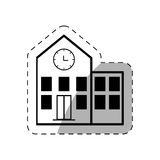 Building school thin line Royalty Free Stock Image