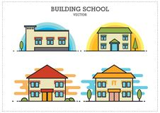 Building School Vector vector illustration