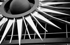 Building Sculpture. Downtown phoenix black and white building details Stock Images