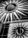 Building Sculpture. Downtown phoenix black and white building details Royalty Free Stock Photos