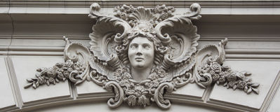 Building sculpture bas-relief Stock Photos