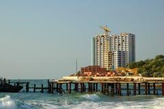 Building at sea Stock Photo