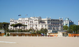 The building is on the seafront in Rimini, Italy Royalty Free Stock Photography