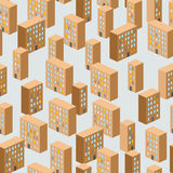 Building seamless pattern. Vector background of the city. Ghetto Stock Photography