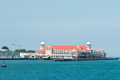 Building by the Seaside. View of big building by the seaside Royalty Free Stock Photography