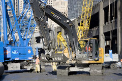 Building the SR 99 tunnel. Alaskan way in Seattle will be turned into a tunnel. That is a century project of Seattle. The highway is too old and making too much Royalty Free Stock Photos