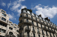 Building in 4 septembre street in Paris Royalty Free Stock Image
