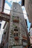 Building. In sermoneta town italy Royalty Free Stock Photography