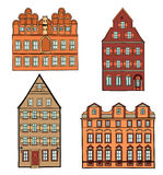 Building set. European classical architecture house collection Royalty Free Stock Photos