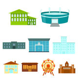 Building set icons in cartoon style. Big collection of building vector symbol stock illustration. Building set icons in cartoon style. Big collection of building Royalty Free Stock Photo