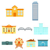Building set icons in cartoon style. Big collection of building vector symbol stock illustration. Building set icons in cartoon style. Big collection of building Royalty Free Stock Photography