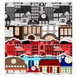 Building set. ripped paper. background. illustration Royalty Free Stock Photos