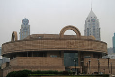 Building of Shanghai museum, China Royalty Free Stock Image
