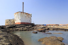 Building shaped like a ship Royalty Free Stock Photo