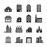 Building  shop icon set Stock Photo