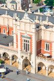 Building Shopping arcade on the main square in Krakow. Top view Royalty Free Stock Photos