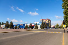 Building of a shopping center. Anna. Russia Stock Images