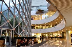 Building of shopping mall. Decorated shopping mall in Shanghai Stock Photography