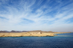 The building on shore in Sharm el Sheikh peninsula Royalty Free Stock Image