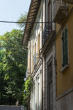 Building in side street. Salsomaggiore Italy Stock Photography