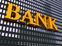 Building and sign bank Royalty Free Stock Images