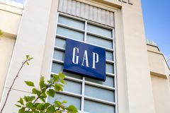 A building sign for the Gap store royalty free stock photo