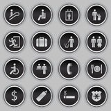Building Sign Icon Set stock image