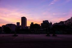 Building silhouette Stock Photos