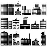 Building silhouettes Stock Photography
