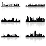 Building silhouettes Royalty Free Stock Photos