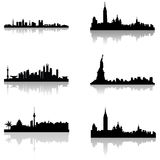 Building silhouettes Royalty Free Stock Images