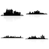 Building silhouettes stock illustration