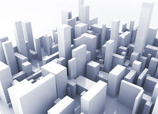 Building simulation royalty free stock photo