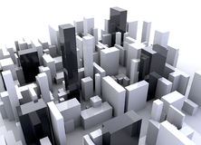 Building simulation stock photo